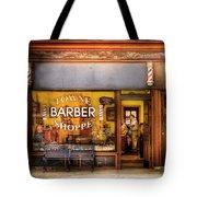 Barber - Towne Barber Shop Tote Bag by Mike Savad