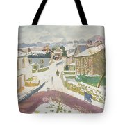 Barbon In The Snow Tote Bag by Stephen Harris