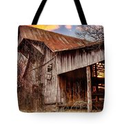 Barn At Sunset Tote Bag by Brett Engle