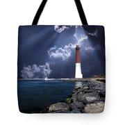 Barnegat Inlet Lighthouse Nj Tote Bag by Skip Willits