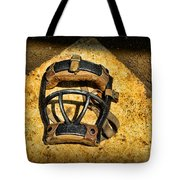 Baseball Catchers Mask Vintage  Tote Bag by Paul Ward