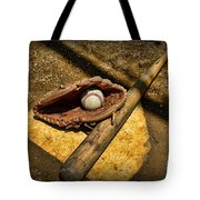 Baseball Home Plate Tote Bag by Paul Ward