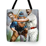 Baseball Player At Bat Tote Bag by Unknown