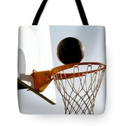 Basketball Hoop And Ball Tote Bag by Lanjee Chee