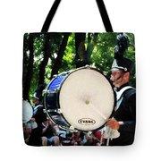 Bass Drums On Parade Tote Bag by Susan Savad