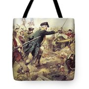 Battle Of Bennington Tote Bag by Frederick Coffay Yohn
