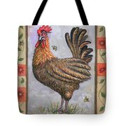 Baxter The Rooster Tote Bag by Linda Mears