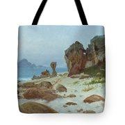 Bay Of Monterey Tote Bag by Albert Bierstadt