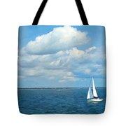 Bay Sailing Tote Bag by Barbara McDevitt