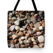 Beach Agates Tote Bag by Carol Groenen