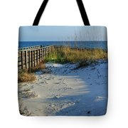 Beach and the Walkway  Tote Bag by Michael Thomas
