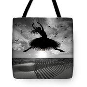 Beach Ballerina Tote Bag by Nina Bradica