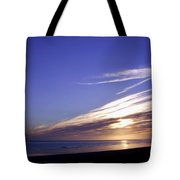 Beach Blue Sunset Tote Bag by Barbara St Jean