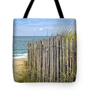 Beach Fence Tote Bag by Elena Elisseeva
