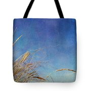 Beach Grass In The Wind Tote Bag by Michelle Calkins