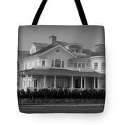Beach House In Spring Lake - Jersey Shore Tote Bag by Angie Tirado