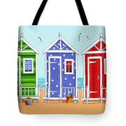 Beach Huts Tote Bag by Peter Adderley