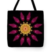Beach Rose Iv Flower Mandala Tote Bag by David J Bookbinder