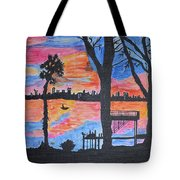 Beach Silhouette Tote Bag by Sonali Gangane