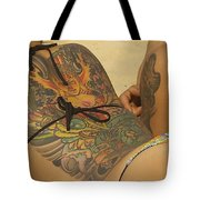 Beach Tattoo Tote Bag by Stuart Litoff