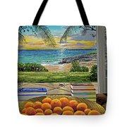 Beach View Tote Bag by Carey Chen