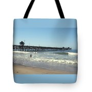 Beach View With Pier 2 Tote Bag by Ben and Raisa Gertsberg