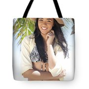 Beachy Woman Tote Bag by Brandon Tabiolo
