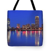 Beantown City Lights Tote Bag by Juergen Roth