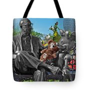 Bear And His Mentors Walt Disney World 03 Tote Bag by Thomas Woolworth