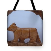 Bear In A Cave Tote Bag by Robert Margetts