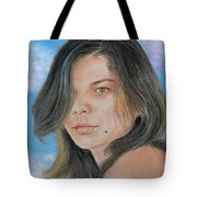 Beautiful And Sexy Actress Jeananne Goossen IIi Altered Version Tote Bag by Jim Fitzpatrick