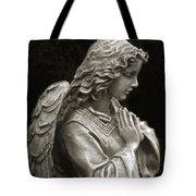 Beautiful Angel Praying Hands Christian Art Print Tote Bag by Kathy Fornal