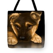 Beautiful Puppy Tote Bag by Veronica Minozzi