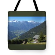 Beautiful View From Riederalp - Swiss Alps Tote Bag by Matthias Hauser