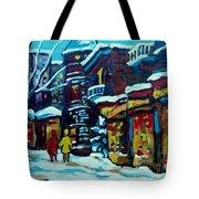 Beautiful Winter Evening Tote Bag by Carole Spandau