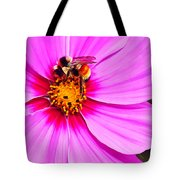 Bee On Pink Tote Bag by Bill Caldwell -        ABeautifulSky Photography