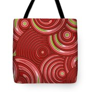 Beetroot Pink Abstract Tote Bag by Frank Tschakert