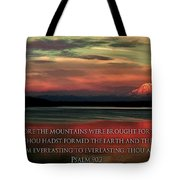 Before The Mountains Tote Bag by Benjamin Yeager