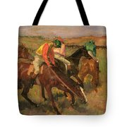 Before The Races Tote Bag by Edgar Degas