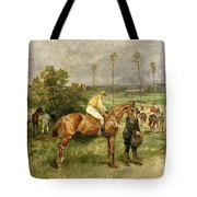 Before The Start Tote Bag by John Lewis Brown