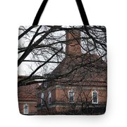Behind Trees -- The British Ambassador's Residence Tote Bag by Cora Wandel