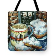Beignets And Cafe Au Lait Tote Bag by Dianne Parks