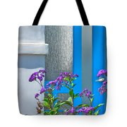 Belmont Shore Blue Tote Bag by Gwyn Newcombe