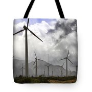 Beneath The Clouds Palm Springs Tote Bag by William Dey