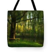 Beneath The Willow Tote Bag by Lori Deiter