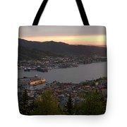 Bergen Sunset Panorama Tote Bag by Benjamin Reed