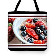 Berries And Yogurt Intense - Food - Kitchen Tote Bag by Barbara Griffin
