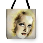 Bette Davis Eyes Tote Bag by Arne Hansen