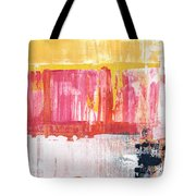 Better Days- Large Abstract Tote Bag by Linda Woods