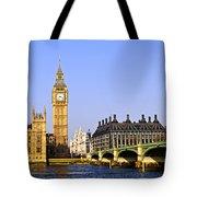 Big Ben and Westminster bridge Tote Bag by Elena Elisseeva